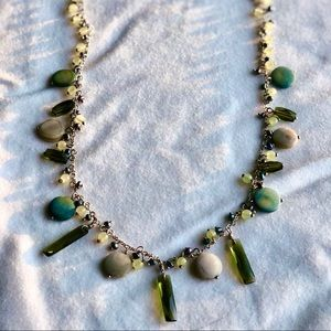 Lia Sophia sea green glass necklace